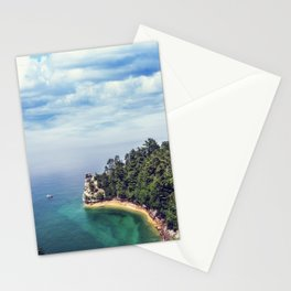 Miners Castle rock formation Stationery Cards