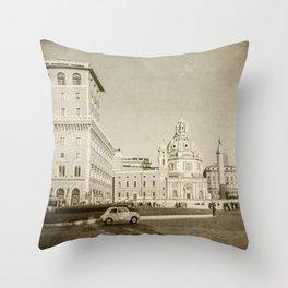 Eternal City (Plaza Venezia) Throw Pillow