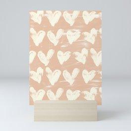 Hearts-Peach Mini Art Print