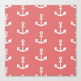 Anchors - Red Canvas Print
