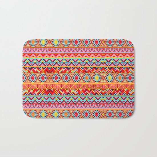 India Style Pattern (Multicolor) Bath Mat