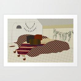 secrets and lies of a room Art Print