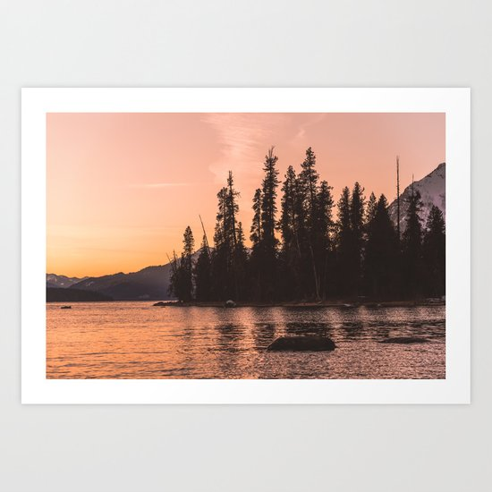 Forest Island at the Lake - Nature Photography by cascadia