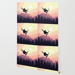 Snowboard Skyline III Wallpaper