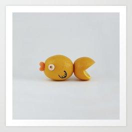 Fish Orange Art Print