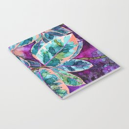Rubber Tree - Alcohol Ink Notebook