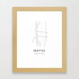 Seattle, WA Framed Art Print