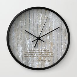 SERENITY PRAYER: BROWN BARN Wall Clock