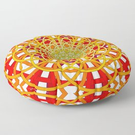 Circles to Oblivion Floor Pillow