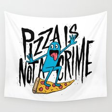 Pizza Is Not A Crime Wall Tapestry