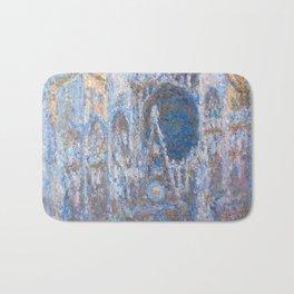 1894-Claude Monet-Rouen Cathedral, West Façade-65 x 100 Bath Mat