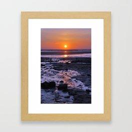 sunset over sand Framed Art Print