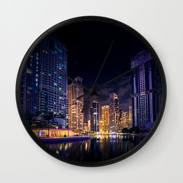 City Lights Dubai Wall Clock