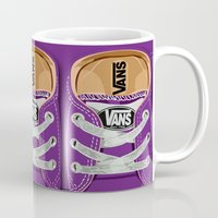 vans Mugs featuring Cute Purple Vans all star baby shoes apple iPhone 4 4s 5 5s 5c, ipod, ipad, pillow case and tshirt by Three Second