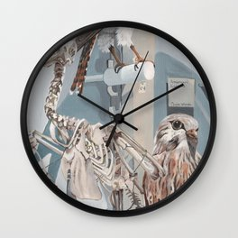 Peregrine Falcon and Kestrels Wall Clock