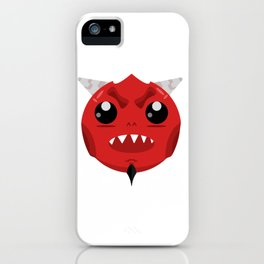 Cute devil dude iPhone Case