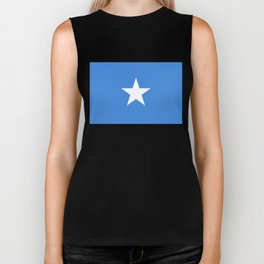 Somalian national flag - Authentic color and scale (high quality file) Biker Tank