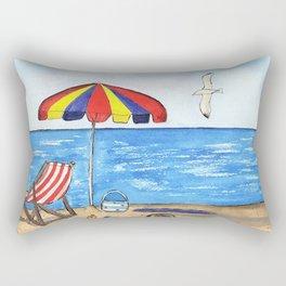 Summer Fun at the Beach Rectangular Pillow