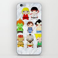 street fighter iPhone & iPod Skins featuring A Boy - Street fighter by Christophe Chiozzi