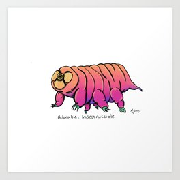 Water Bear Don't Care Art Print