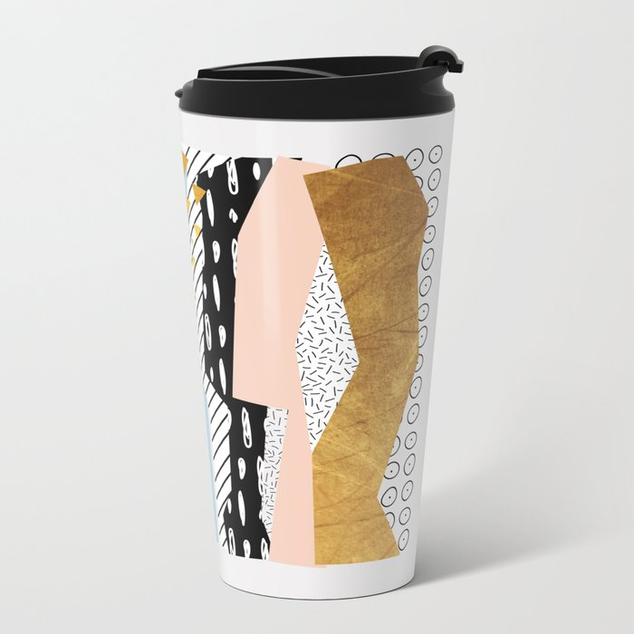 Geometric shapes 01 Metal Travel Mug