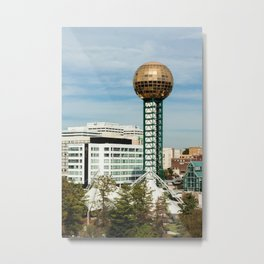 Sunsphere + Downtown Knox Metal Print