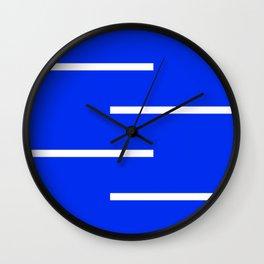 Abstract Minimal Retro Stripes Blue Wall Clock