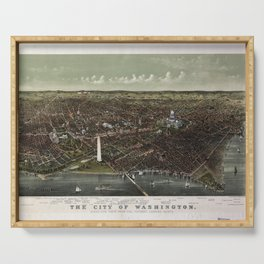 The City of Washington Birds-Eye view from the Potomac-looking North (1892) Serving Tray