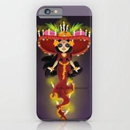 Cute La Muerte  iPhone Case