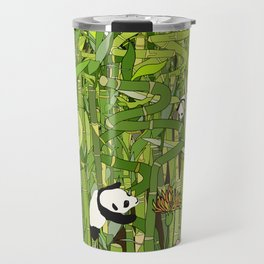 Pandas Bamboo Forest Travel Mug