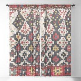 Kordi Northwest Persian Khorjin Print Sheer Curtain