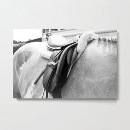 B/W Saddle Metal Print