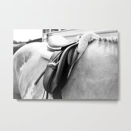 B/W Saddle Metal Print