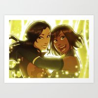 korrasami Art Prints featuring Korrasami by TiuanaRui