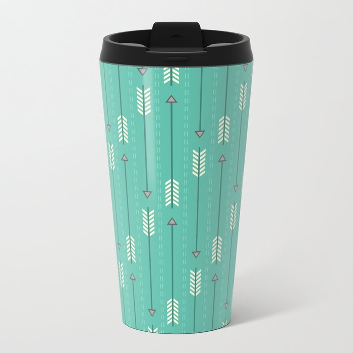 Arrows_Turquoise Travel Mug