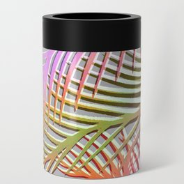 Palm Leaves Pattern - Pink, Gray, Orange Can Cooler