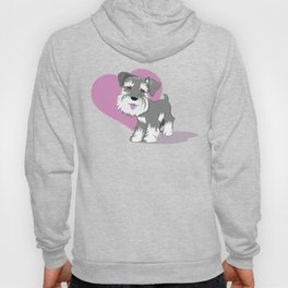 Miniature Schnauzer Puppy Dog Adorable Baby Love Hoody