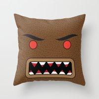 werewolf Throw Pillows featuring Werewolf by Visual Heist