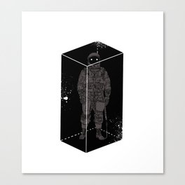 Astronaut in a box Canvas Print
