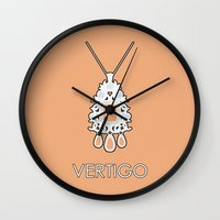 vertigo Wall Clocks featuring Vertigo by MacGuffin Designs