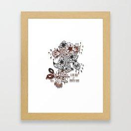 Clear body//Broken heart Framed Art Print