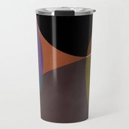 mid century abstract geometric autumn 2 Travel Mug