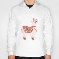 alpaca Hoodies featuring The Alpaca by haidishabrina