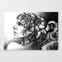 Gaia medusa - Michelle S. Have Canvas Print