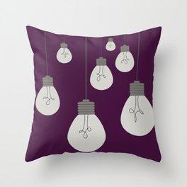 Hanging Light Bulbs Throw Pillow