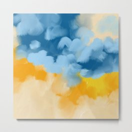Sunny days abstract painting Metal Print