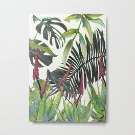 Watercolor Plants II Metal Print