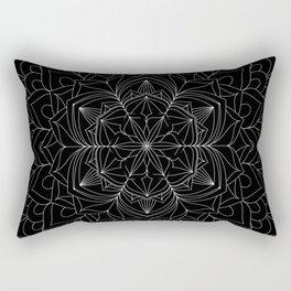 Tranquility | No. 1 | Black and white | Mandala Art Rectangular Pillow