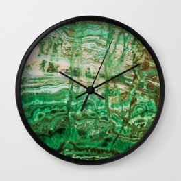 MINERAL BEAUTY - MALACHITE Wall Clock