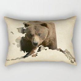 Alaskan Grizzly Map Rectangular Pillow